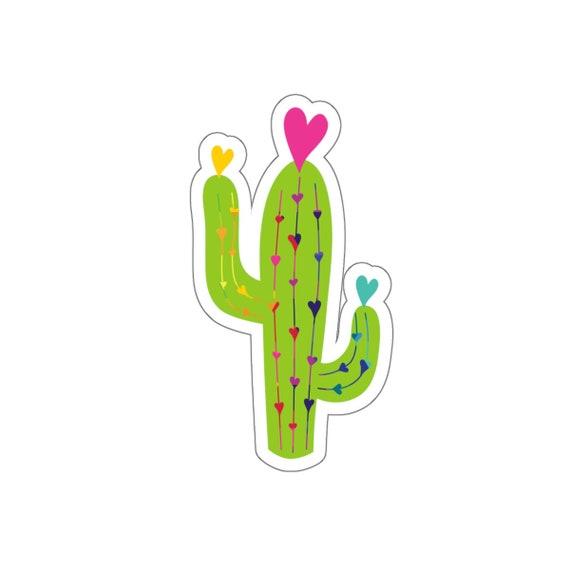 Cactus Love Kiss-Cut Stickers