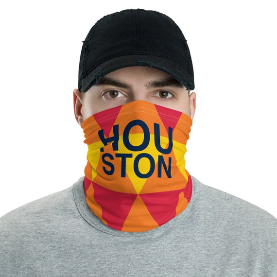 Houston Astros Orange Neck gaiter - Unisex Face Mask Covering - Block Wind and Sun - Lightweight for Fishing - Houston Texas