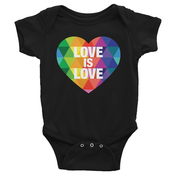 Love is Love Infant Bodysuit - Heart Shirt for Baby - Gift for Baby Shower