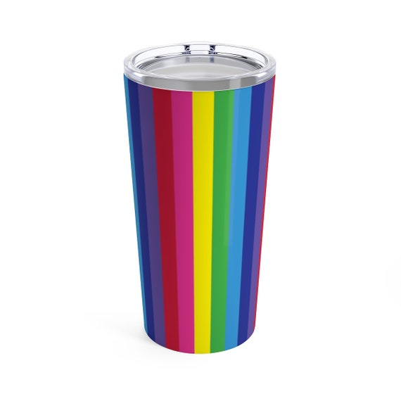 The Vivid Collection: Rainbow Striped Tumbler 20oz