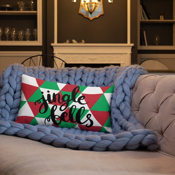 Jingle Bells Christmas Premium Pillow