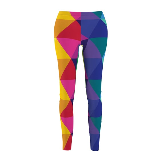 WomenS Cut  Sew Casual Leggings Colorful Yoga Pants
