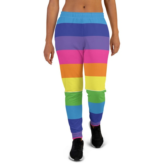 Candy Cane Rainbow Striped Women's Joggers