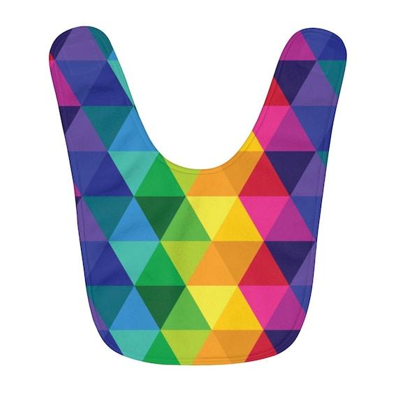 Fleece Baby Bib Colorful Geometric Infant Bib Gift For Baby
