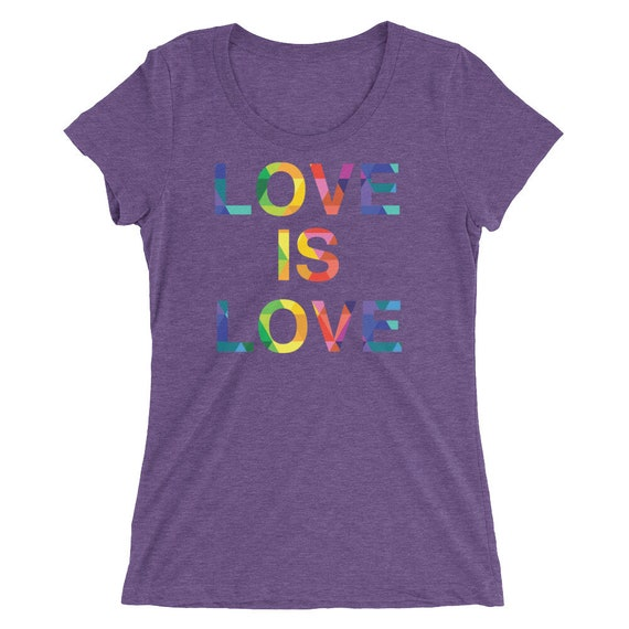 Ladies' Short Sleeve T-shirt Special Love is Love Rainbow Pride Gay Lesbian Tees LGBT Equality Apparel Love Gifts - 9 Different Colors!