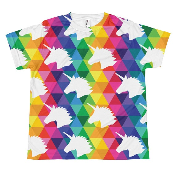 Youth Unicorn T-shirt All-over Youth Sublimation Tee for Kids