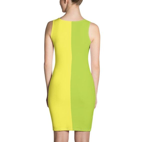 Neon Green and Yellow Dress