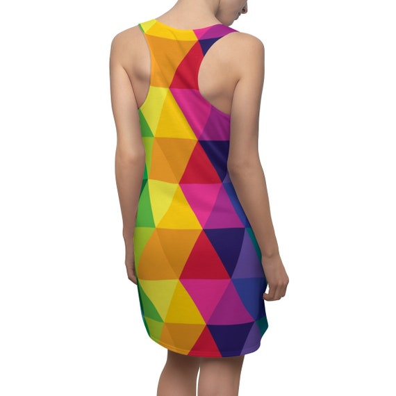 Colorful womens Dress Women's Cut & Sew Racerback Dress A Gift for Your Daughter