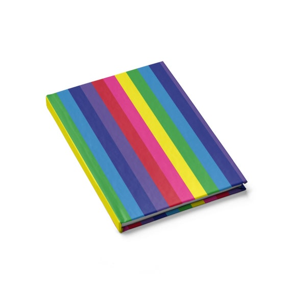 The Vivid Collection: Rainbow Striped Journal - Blank