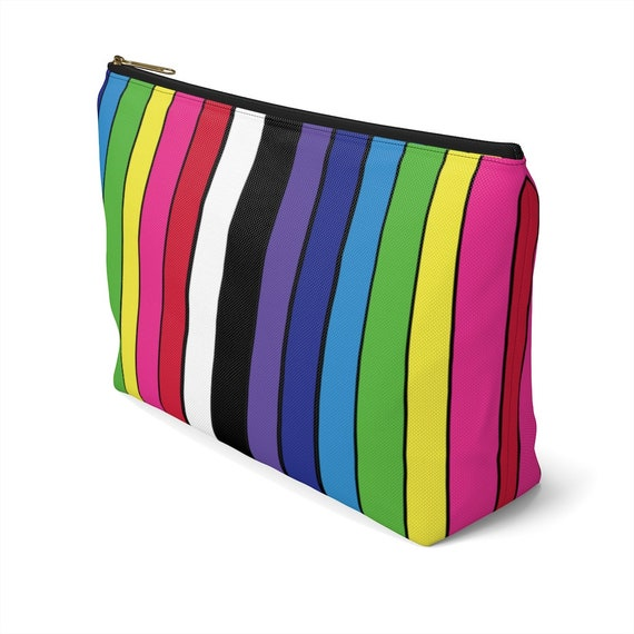 The Striped Accessory Pouch w T-bottom