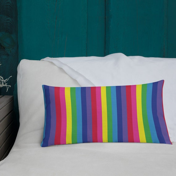 The Vivid Collection: Rainbow Striped Premium Pillow