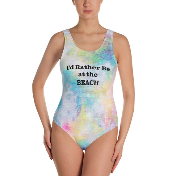The Beach Collection: I'd Rather Be at The Beach One-Piece Swimsuit