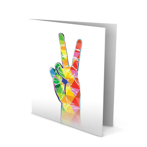 Peace Out Greeting Card!