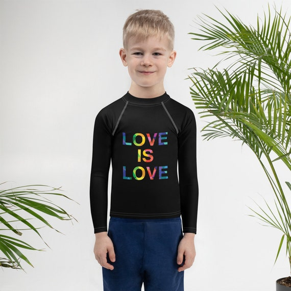Love is Love Kids Rash Guard