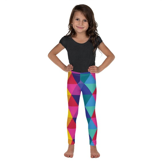 The Kaleidoscope Kid's Leggings - Colorful Rainbow Leggings