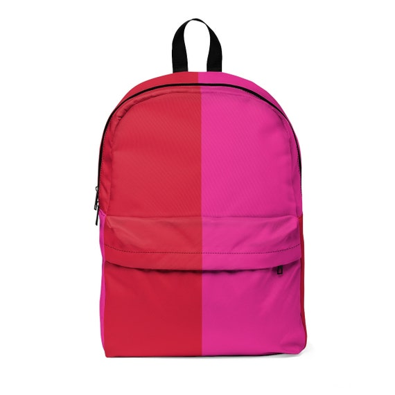 Red + Pink Two Toned Unisex Classic Backpack