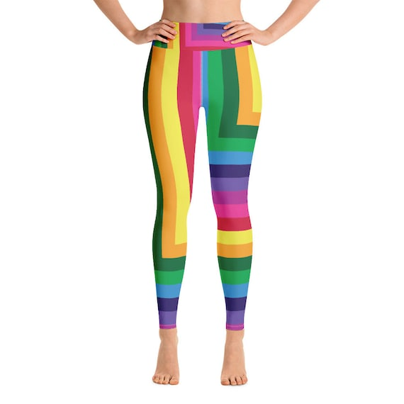 Rainbow Squared Yoga Leggings