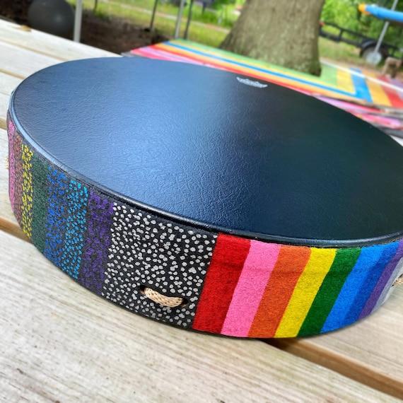 Custom Remo Buffalo Drum - Rainbow Colors