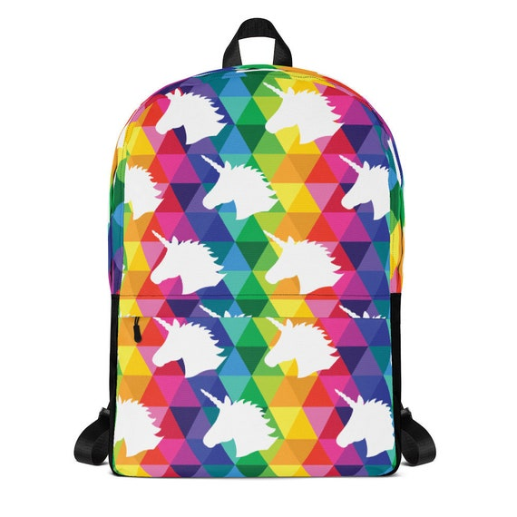 Unicorn Backpack Colorful Rainbow Bag for School or Traveling