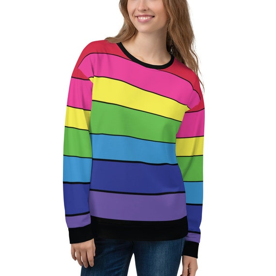 The Striped Rainbow Unisex Sweatshirt