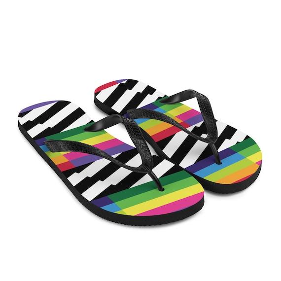 Rainbow Flip-Flops - Rainbow Sandals - Amazing Rainbows