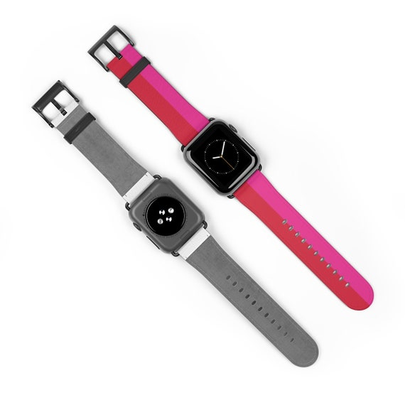 Red + Pink Two Toned Watch Strap