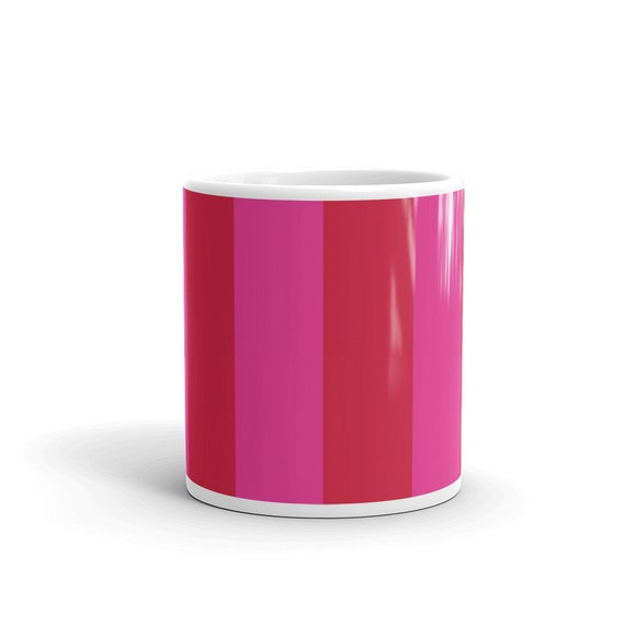 Red + Pink Two Toned Mug