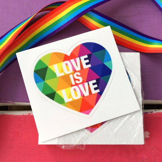 "Love is Love Kiss-Cut Stickers 3"" x 3"""