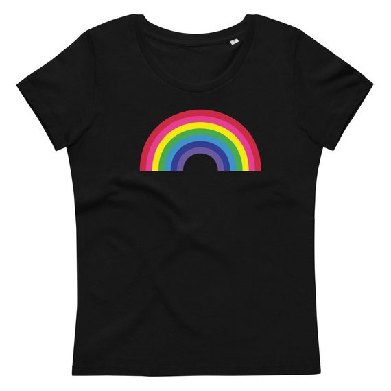 Women's rainbow fitted eco tee