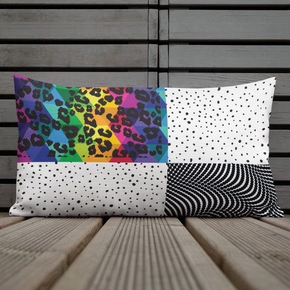 Wild Thing Colorful Abstract Print Premium Pillow Case w/ stuffing