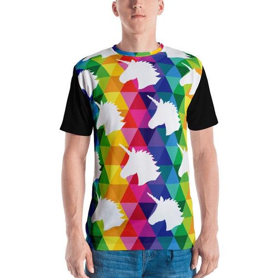 Men's T-shirt Unicorn Head Tee Funny Animal Tshirt Unicorn Lover Gift Fashion