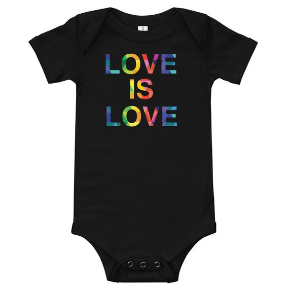 Love Is Love Infant Snap Tee Colorful Rainbow One Piece Gift for Baby or Love Jumpsuit - Infant Bodysuit