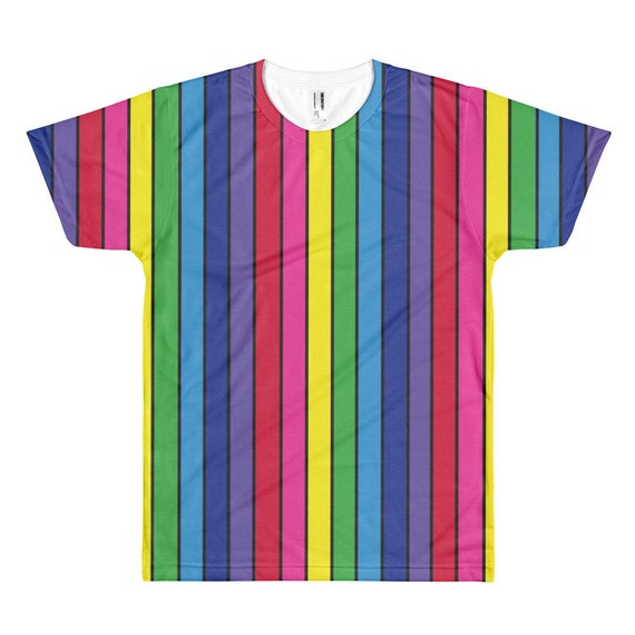The Vivid Collection: Rainbow Striped Short sleeve men's t-shirt