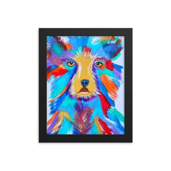 The Wild and Free Bear Head Framed Photo Paper Poster