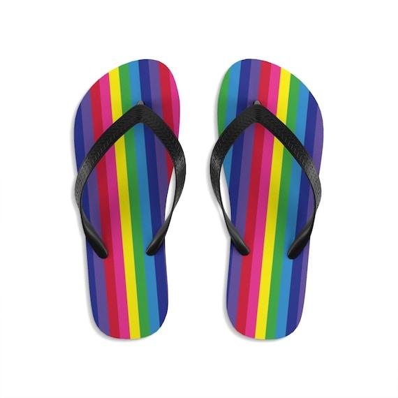 The Vivid Collection Rainbow Unisex Flip-Flops