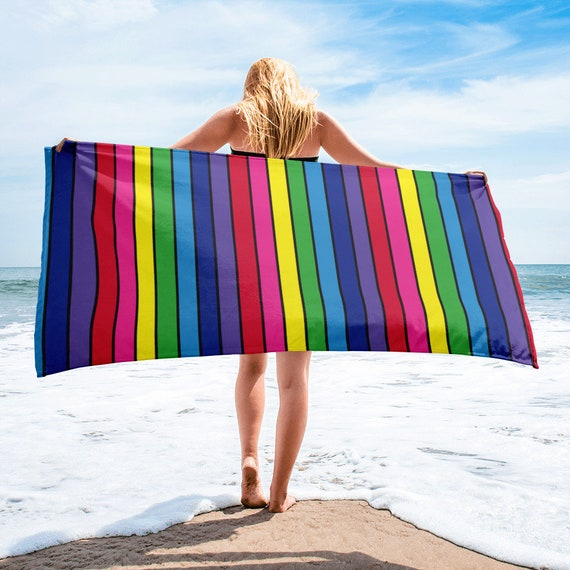 The Vivid Collection: Rainbow Striped Towel