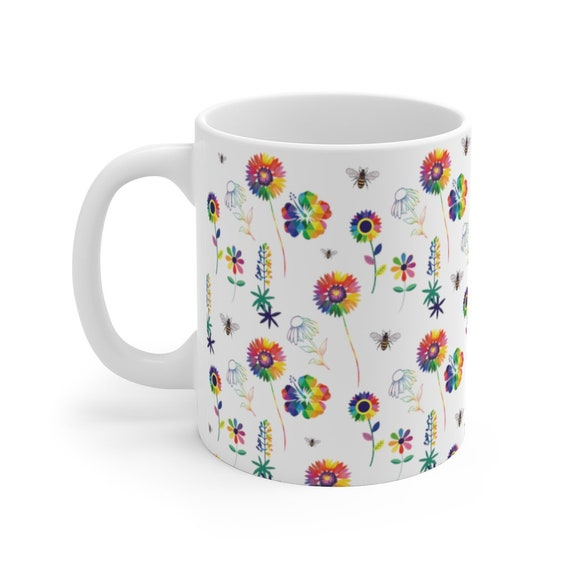 Texas Spring Flowers Mug 11oz - The Floral Collection