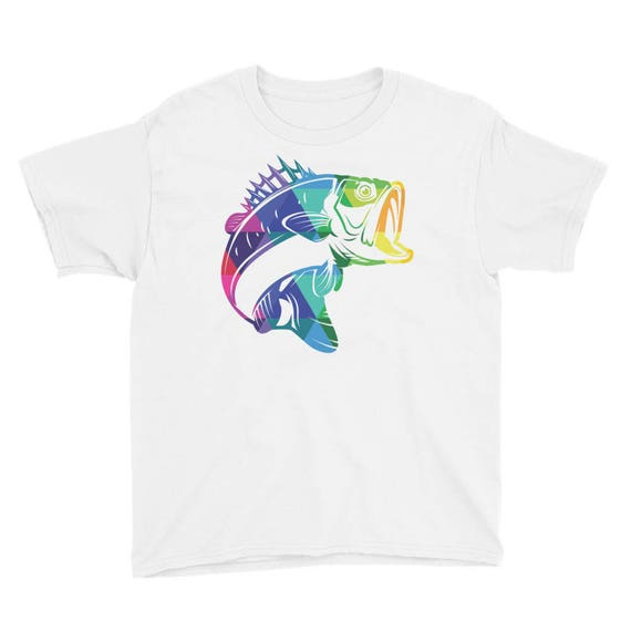 Youth Short Sleeve T-Shirt with Colorful Fish on Front