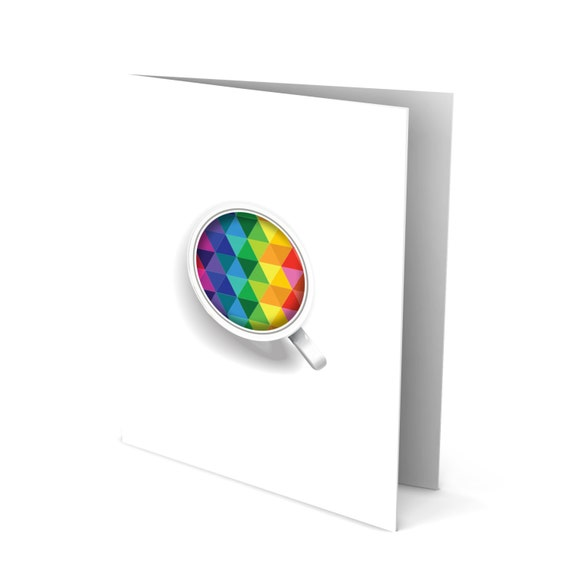 Get Better Quick Greeting Card - Colorful Tea Cup