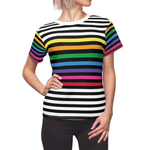 Candy Striped Women's Tee