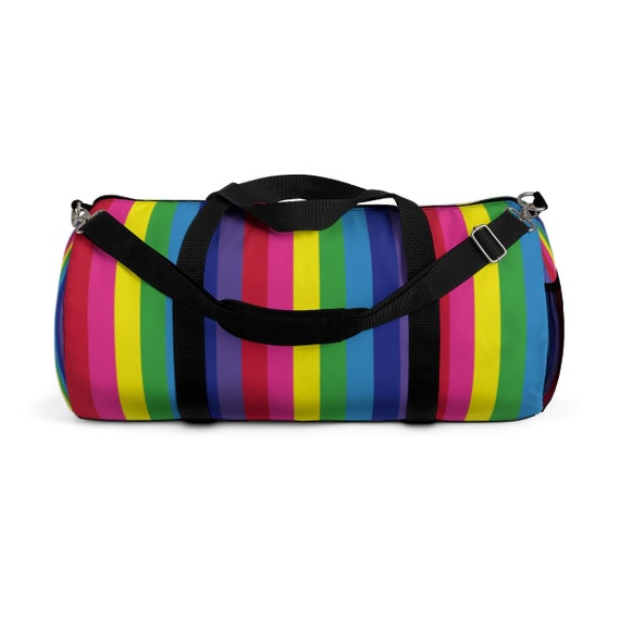 The Vivid Collection: Rainbow Striped Duffle Bag