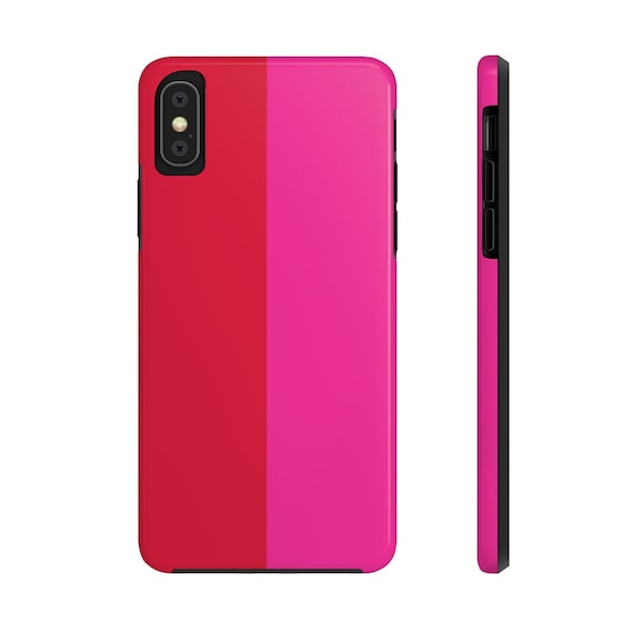 Red + Pink Two Toned Case Mate Tough Phone Cases