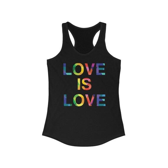 Love Is Love Women's Ideal Racerback Tank