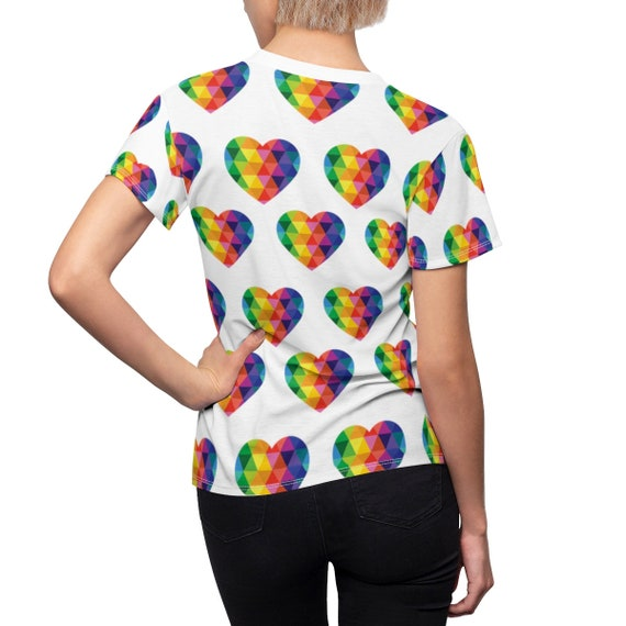 All Over Hearts Women's Tee