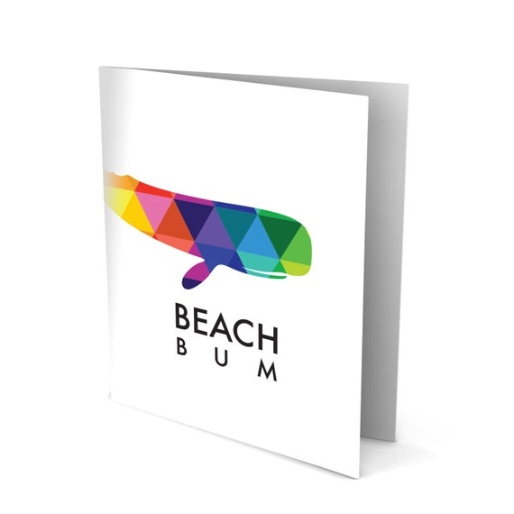 Beach Bum Greeting Card with a Whale and Large Type!