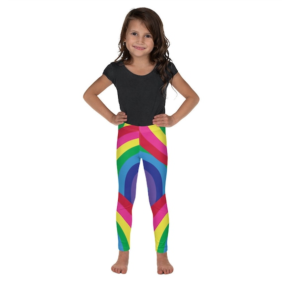 Colorful Rainbow Kid's Leggings Super Soft Pant Warmers
