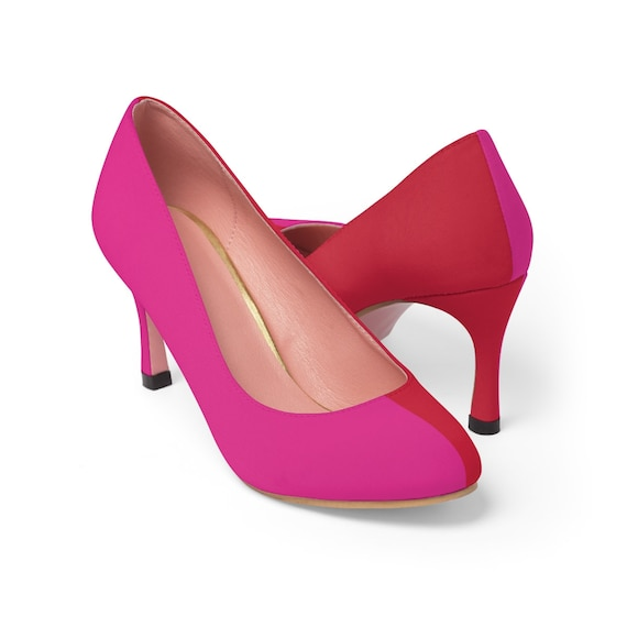 Red + Pink Two Toned Women's High Heels