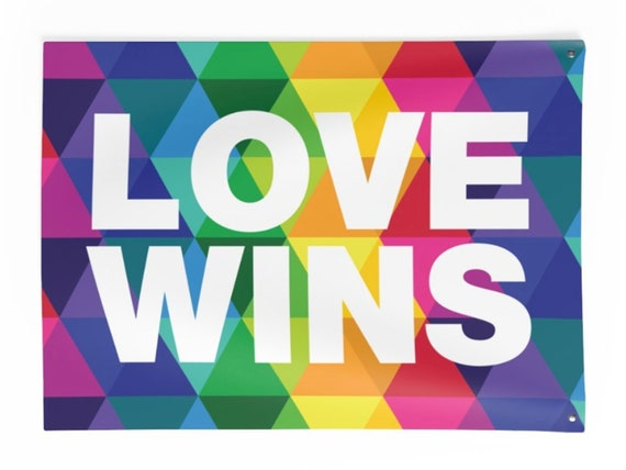 LOVE WINS Indoor Wall Tapestries