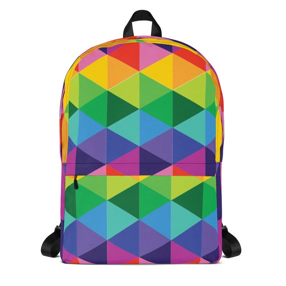 Colorful Backpack for School Work or Traveling Rainbow Bag to Hold Your Unicorn