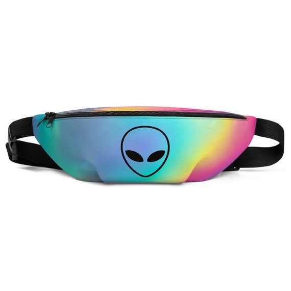 Special Festival Edition: Supergalactic Alien Fanny Pack - Rainbow Bag - Alien Mood Pack - Festival Bum Bag - Multi Colored Waist Bag